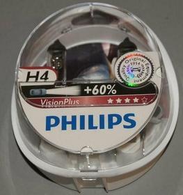 PHILIPS Żarówka H4 12V VisionPlus +60% more light 2szt 12342VP SET2