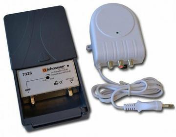 Johansson KIT7328/2434 DVB-T 15-30 dB + zasilacz 24V i filtr LTE(4G)