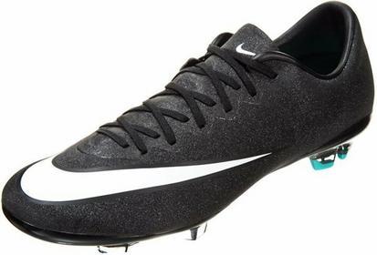 Nike Performance MERCURIAL VAPOR X FG Korki Lanki black/white/neon turquoise/spi