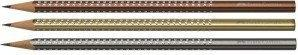 Faber-Castell FABER CASTELL Ołówek Sparkly Grip metallic brązowy 118339