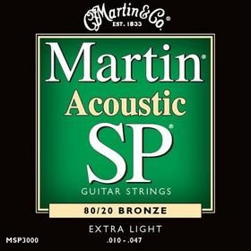 Martin struny do gitary akustycznej MSP3000 - .010-.047 Bronze