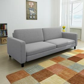 vidaXL Kanapa sofa 3 osobowa jasnoszara