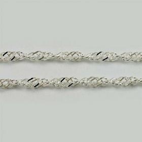 Łańcuszek srebrny singapur Ł11/0 2.5g 50 cm (Ł11/0 2.5g 50 cm)