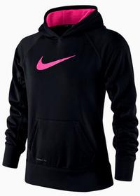 Nike Bluza Dziewczęca KO 2.0 FZ Hoody - black/pink pow