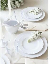 Chodzież Zestaw obiadowy dla 12 osób porcelana MariaPaula Biała | Darmowa dostaw