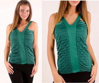 INNA MARKA Bluzeczka na ramiączkach zielona