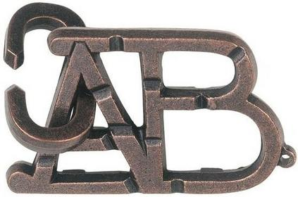 Cast Puzzle Łamigłówka Cast ABC - poziom 1/6