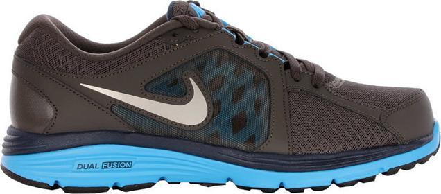 Nike Dual Fusion Run niebiesko-brązowy