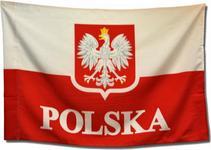 Flaga narodowa z orłem 150x90 cm