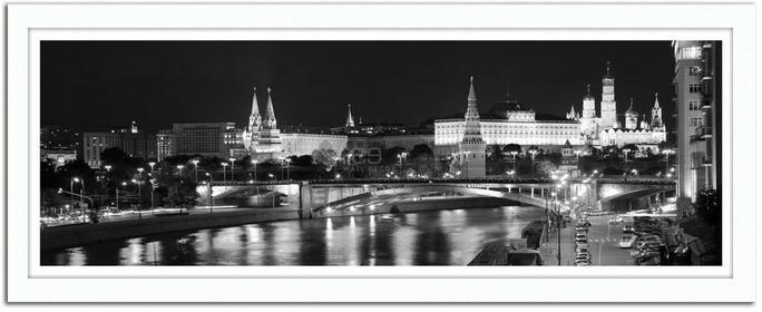 Feeby Panorama miejska, Obrazy w ramie - Biały