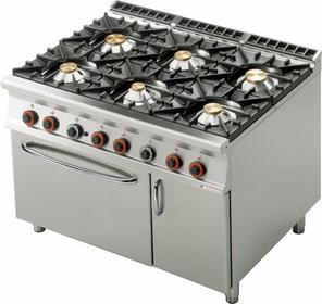 Lotus Kuchnia gazowa z piekarnikiem gazowym GN 2/1 i szafką CF6 - 912 GV 0000108
