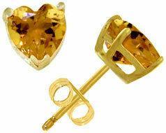 Galaxy Gold Products 1816 Kolczyki z cytrynów