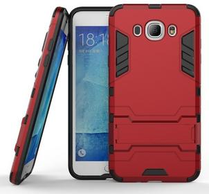 Samsung Czerwone Etui Combo Hybrid Stand Case Galaxy J7 2016