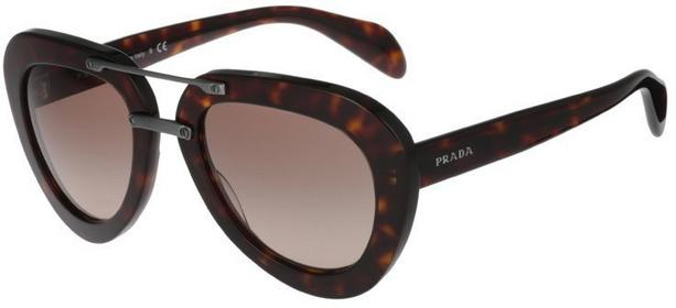 Prada Okulary przeciwsłoneczne black/brązowy 0PR 28RS