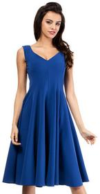 DaWanda.pl MOE201 koktajlowa sukienka z klinów - niebieski female 97176023