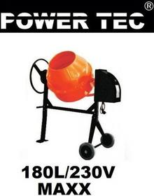 Power tec BETONIARKA BETONIARKI MIESZALNIK MIESZARKA 180L/230V/O MAXX POWERTEC18
