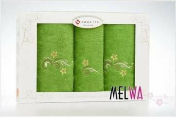 Zwoltex 3 częściowy Komplet ręczników bawełnianych haft (3cz zw 5)
