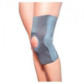Stabilizator kolana elastyczny z szynami policentrycznymi o niezależnych osiach