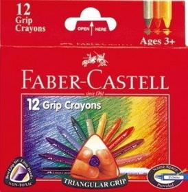 Faber-Castell FABER CASTELL Kredki woskowe trójkatne 12 szt 120090