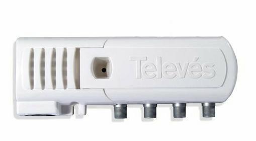 Televes 5522 wzmacniacz 2+1 wyjść z zasilaczem