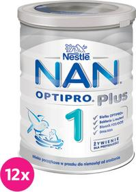 Nestle 12x NAN OPTIPRO Plus 1 PUSZKA 400 g