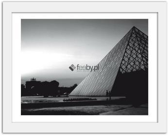 Feeby Piramida Luwru, Obrazy w ramie - Biały