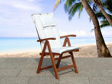 Beliani Drewno Krzesło ogrodowe - regulowane oparcie - TOSCANA brazowy