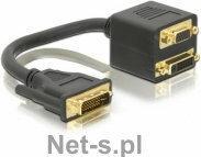 Delock Adapter DVI-I(M)(24+5) DUAL LINK->DVI-D(F)(24+1) +VGA(15F)