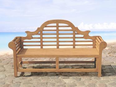 Beliani Drewniana lawka ogrodowa 180 cm JAVA Marlboro brazowy