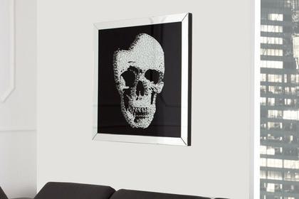 Interior Obraz na szkle Glam Skull 60x60 cm