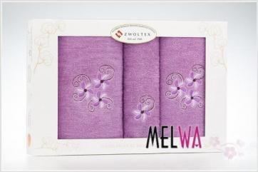 Zwoltex 3 częściowy Komplet ręczników bawełnianych haft (3cz zw 4)