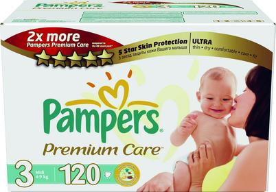 Pampers Premium Care 3 Midi 120 szt.