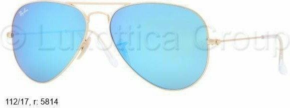 Ray Ban Ray-Ban AVIATOR Okulary przeciwsłoneczne goldfarben/zielony 0RB3025
