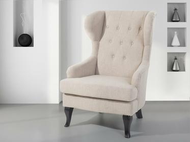 Beliani Fotel tapicerowany bezowy - krzeslo - ALTA