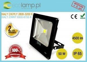 Ecolamp Naświetlacz HALOGEN LED 50W 4500 lm SLIM 230