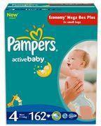 Pampers Active Baby 4 Maxi 162 szt.