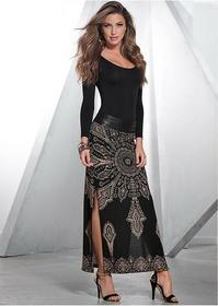 Bonprix Sukienka z długim rękawem czarny 936121