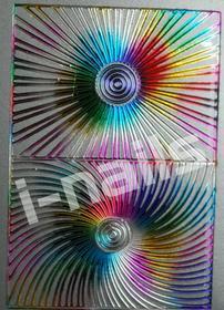 Ozdoby do paznocki laserowe wycinane z motywami hologramowymi - RAINBOW łuki srebrne