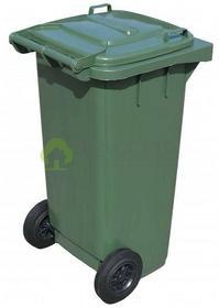 Jestic Kosz Pojemnik na odpady stałe 120L zielony