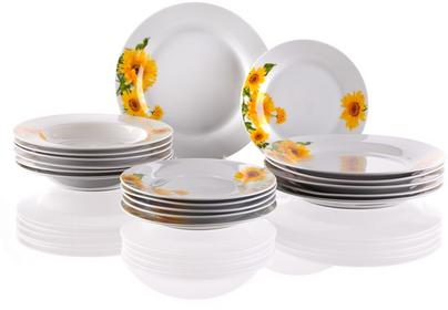 Banquet Sunny 18-częściowy zestaw talerzy