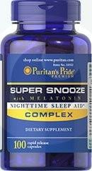 PURITANS PRIDE Super Snooze with Melatonin 100 Capsules