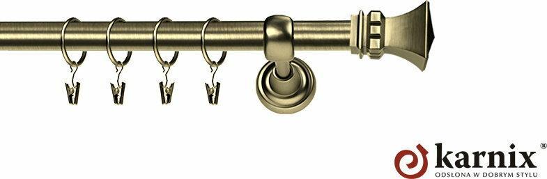 Karnix Karnisz Metalowy Rzymski pojedynczy 25mm Orto antyk mosiądz