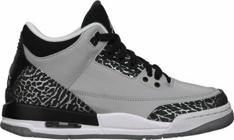 Nike Buty młodzieżowe Air Jordan 3 Retro BG - 398614-004