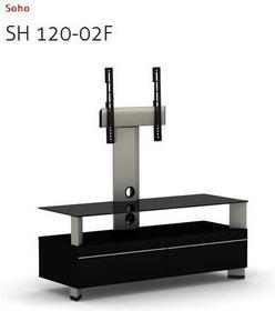 Elmob Stolik pod telewizor LCD LED Plazma do 50 - Soho 120-02F Black