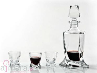 Bohemia Karafka + Kieliszki do nalewek Quadro Crystalite