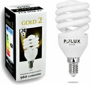 Polux świetlówka energooszczędna GOLD 2 mini 15W E14 SE9665