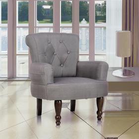 vidaXL Fotel francuski z podłokietnikami, szary