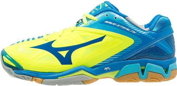 Mizuno WAVE 3 Buty do piłki ręcznej neon yellow/directoire blue/blue atoll X1G