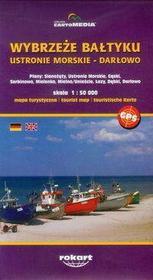 Wybrzeże Bałtyku Ustronie Morskie Darłowo mapa turystyczna 1:50 000