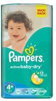 Pampers Active Baby-Dry 4 Maxi 53 szt.